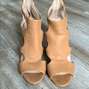 Tan cutout louise et cie heels